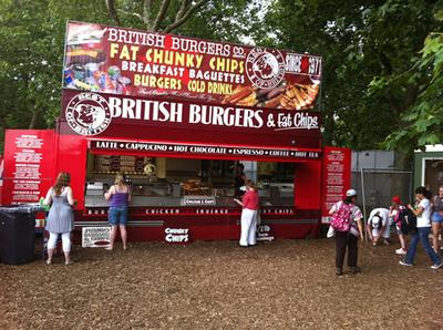 Catering trailer at Hyde Park