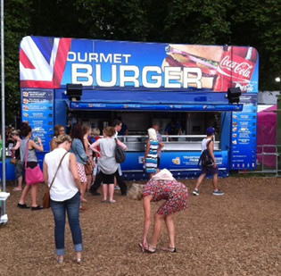 Catering trailer at festival