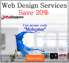 mobile catering web design
