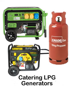 generator for mobile catering lpg