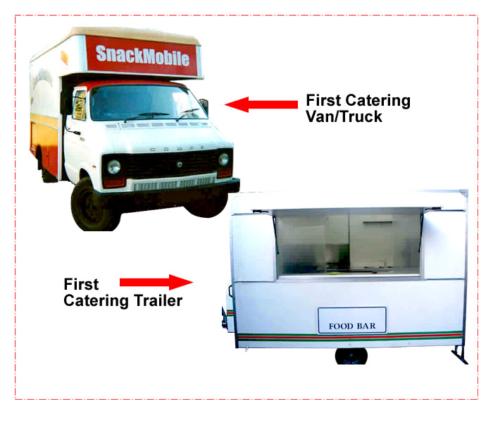 catering trailer and van