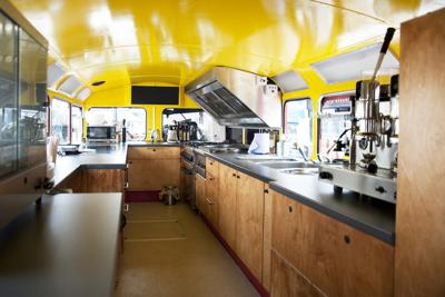 Inside Double Decker Catering Bus