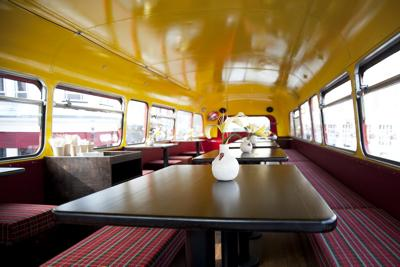 Inside Catering Double Decker Bus