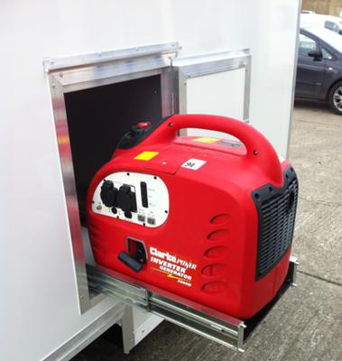 Sliding pull out generator
